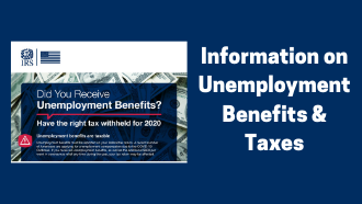 irs unemployment benefits poster