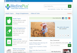 medline plus screenshot
