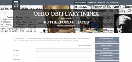 Ohio Obituary Index screenshot